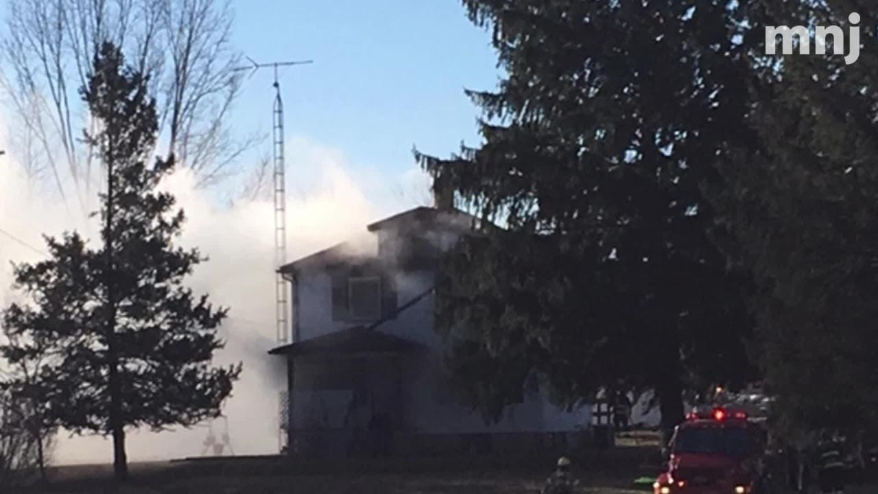 A couple was displaced Monday from their house on Timmerman Road after a fire broke out.