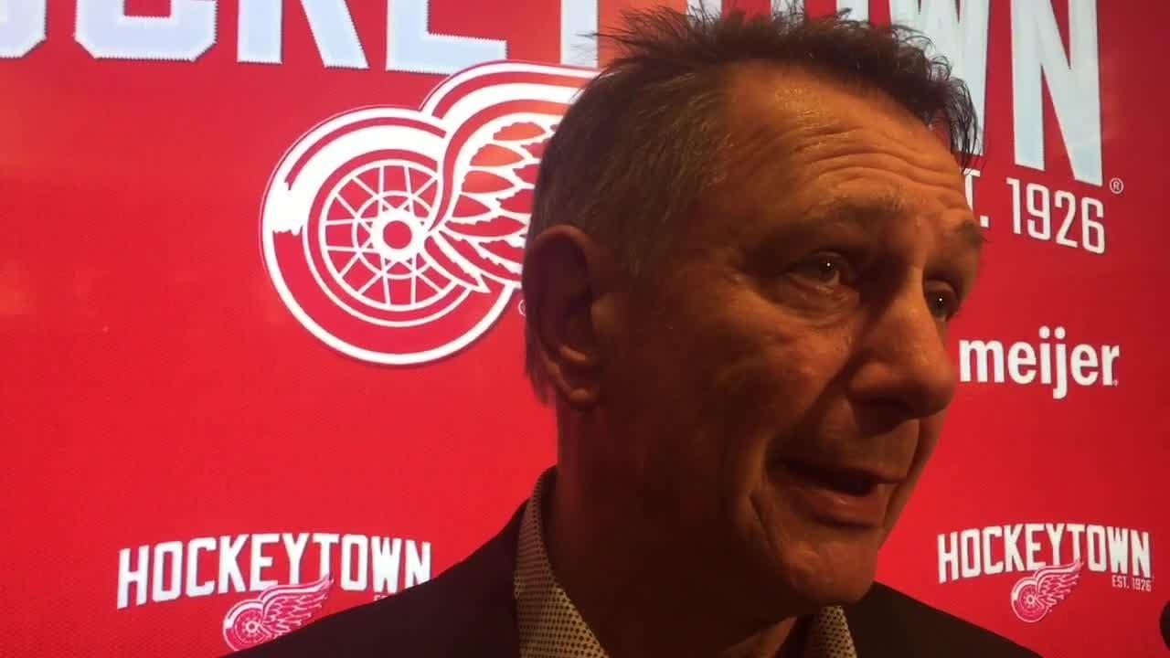 GM Ken Holland on trade deadline, state of Detroit Red Wings. Filmed Feb. 25, 2019 in Detroit.