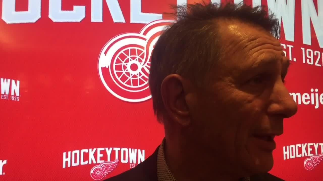 The Red Wings plan to extend coach Jeff Blashill, says GM Ken Holland. Filmed Feb. 25, 2019 in Detroit.