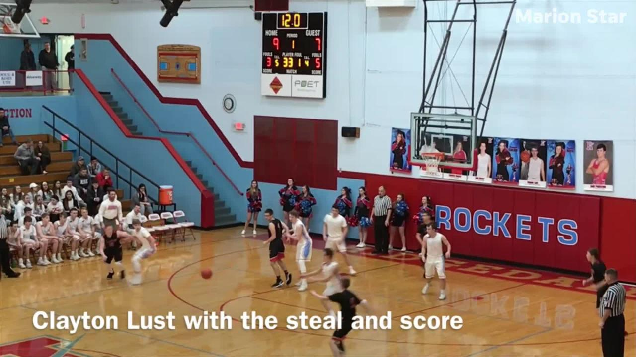 Ridgedale beat Cardington 56-46 in a Division IV boys basketball sectional semifinal game Monday night at Ridgedale.