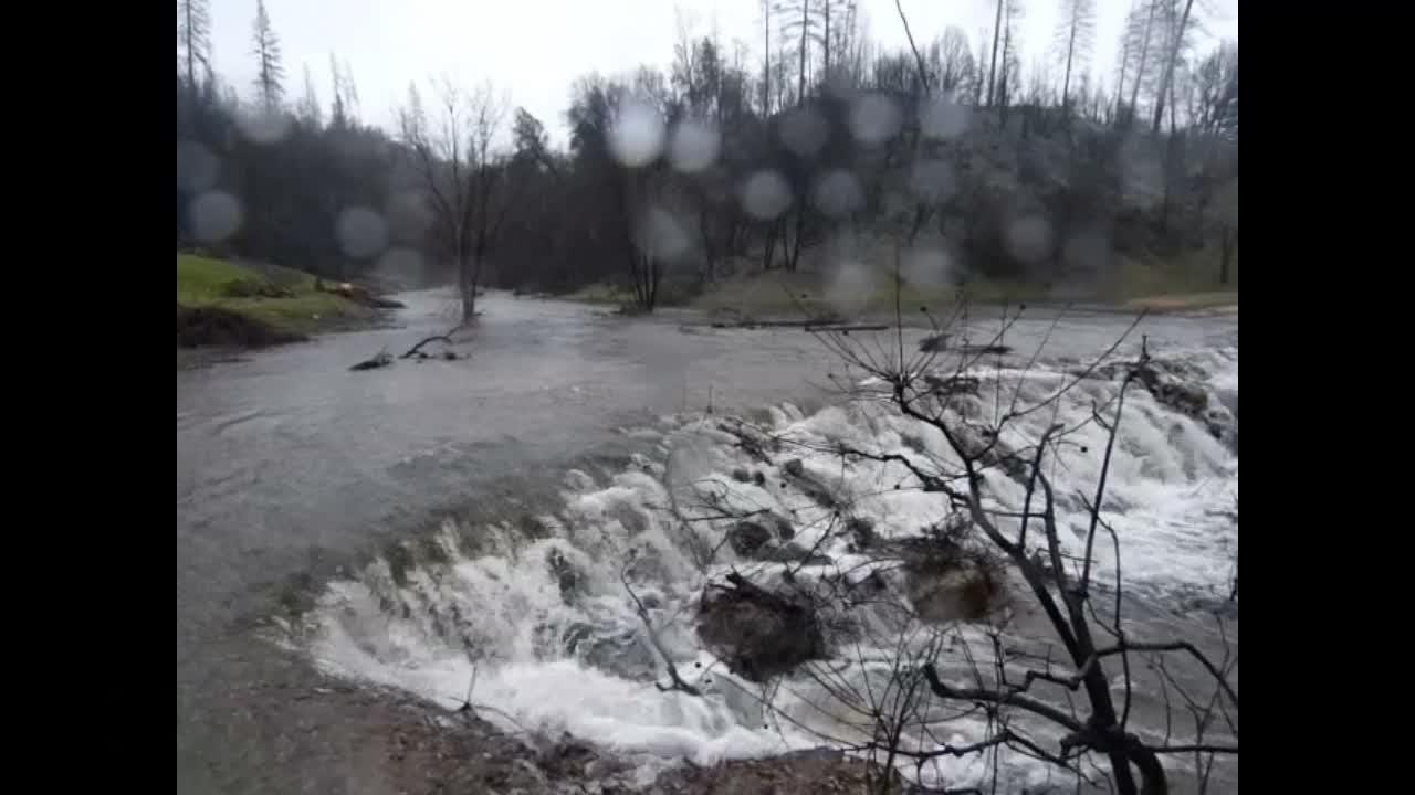 Wind and rain hit the North State