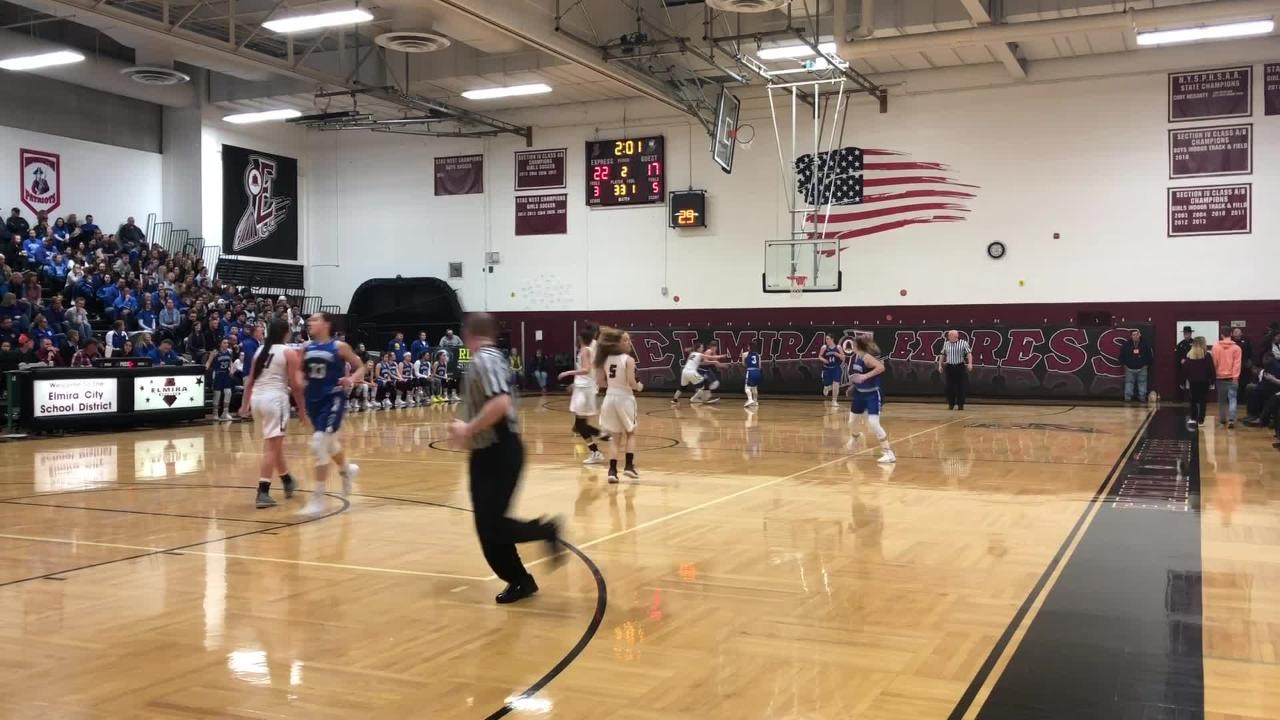 Watch highlights as Elmira beat Horseheads for the third time this season, 63-41, in a Section 4 Class AA girls basketball semifinal Feb. 26, 2019.