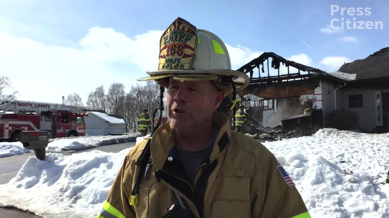 Hear from Solon Volunteer Fire Department Assistant Chief, Scott Wolfe, about a fire on Serenity Court, Wednesday morning, Feb. 27, 2019.