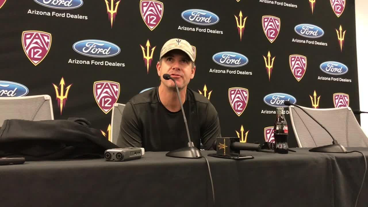 ASU offensive coordinator Rob Likens on spring game, wide receivers