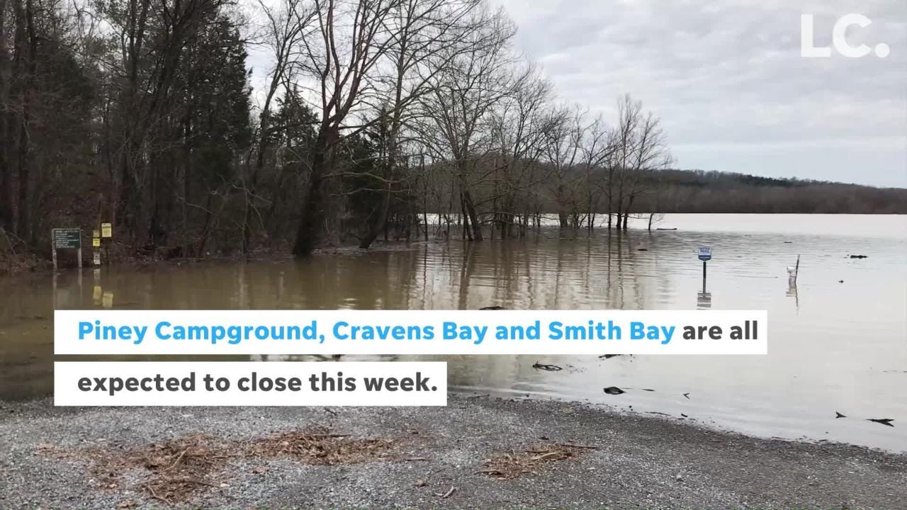 Flooding from rising lake levels is forcing officials to close some facilities at Land Between the Lakes National Recreation Area.