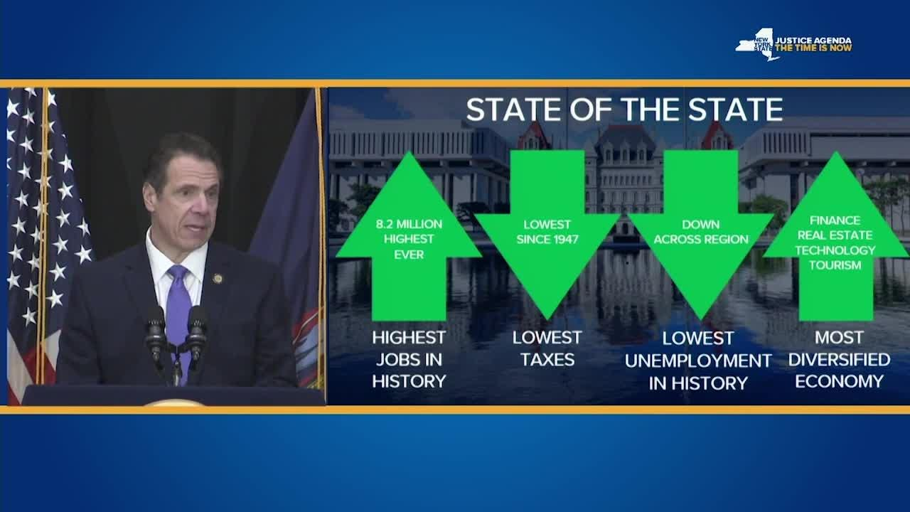 Video: Cuomo talks about the state's economy