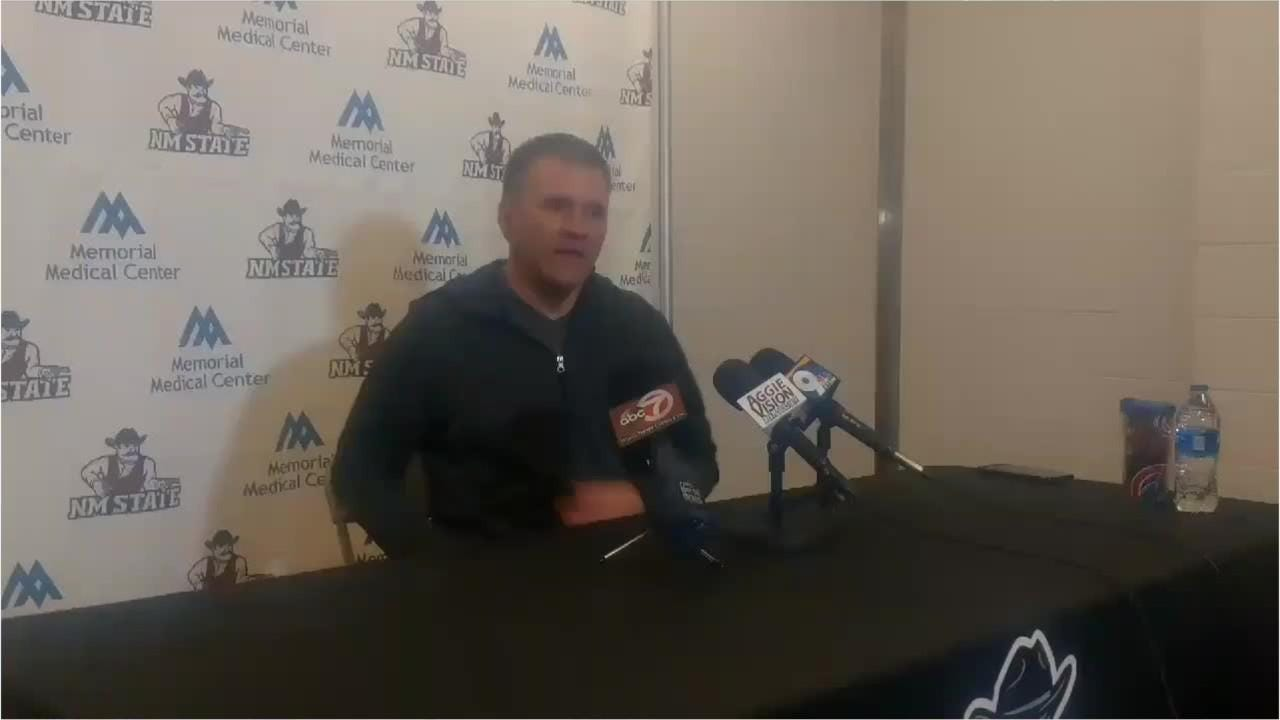 New Mexico State men's basketball can win the WAC outright with a win on Thursday at UMKC.