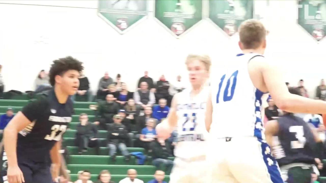 Watch one minute and 42 seconds of CC vs Farmington High. CC beat Farmington to advance to March 1st's game against Northville High