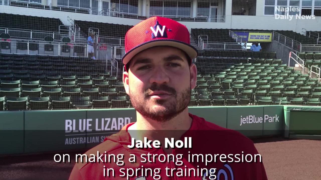 Former FGCU star Jake Noll making great impression in Washington Nationals spring training camp