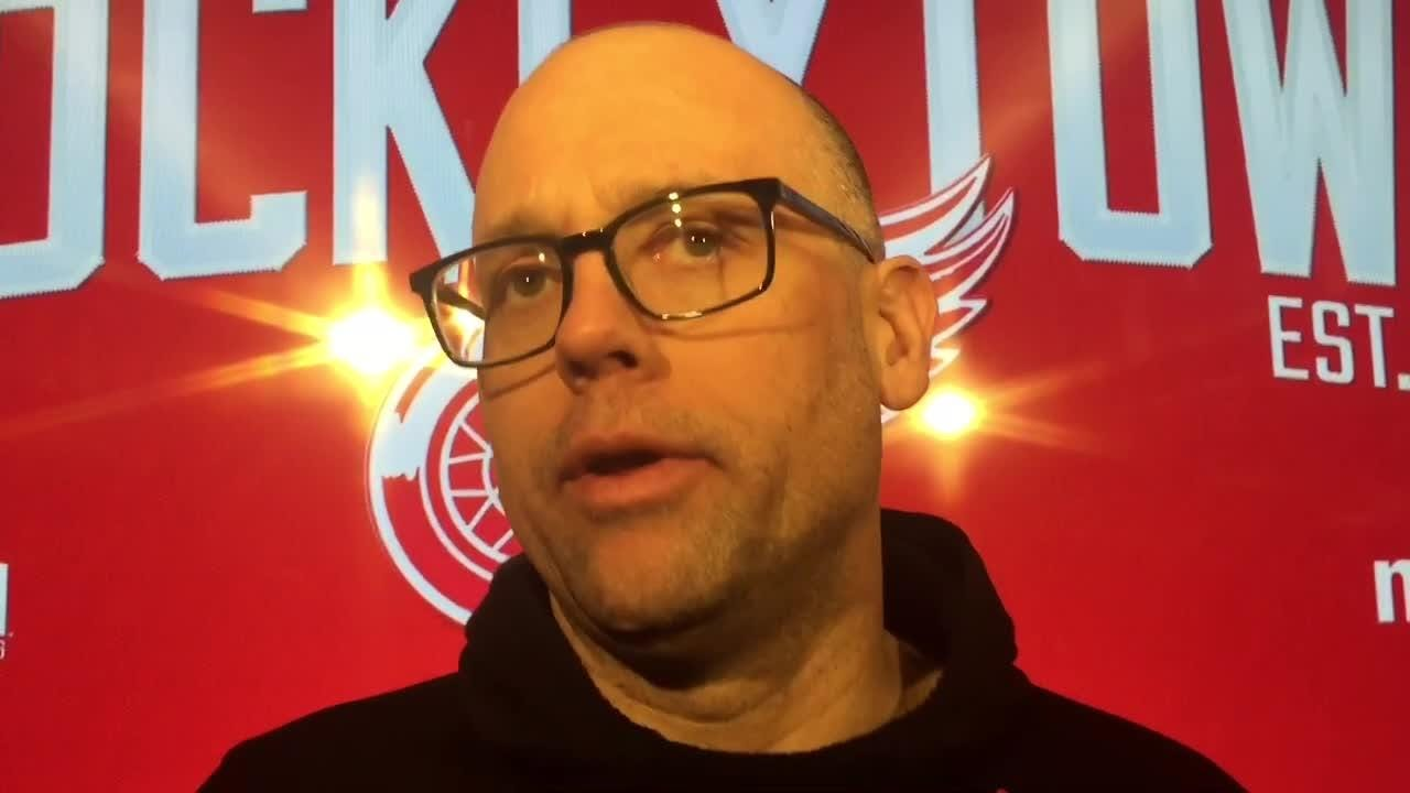 The Wings are refocusing on being hard to play against with 18 games to go. Filmed Feb. 28, 2019 in Detroit.