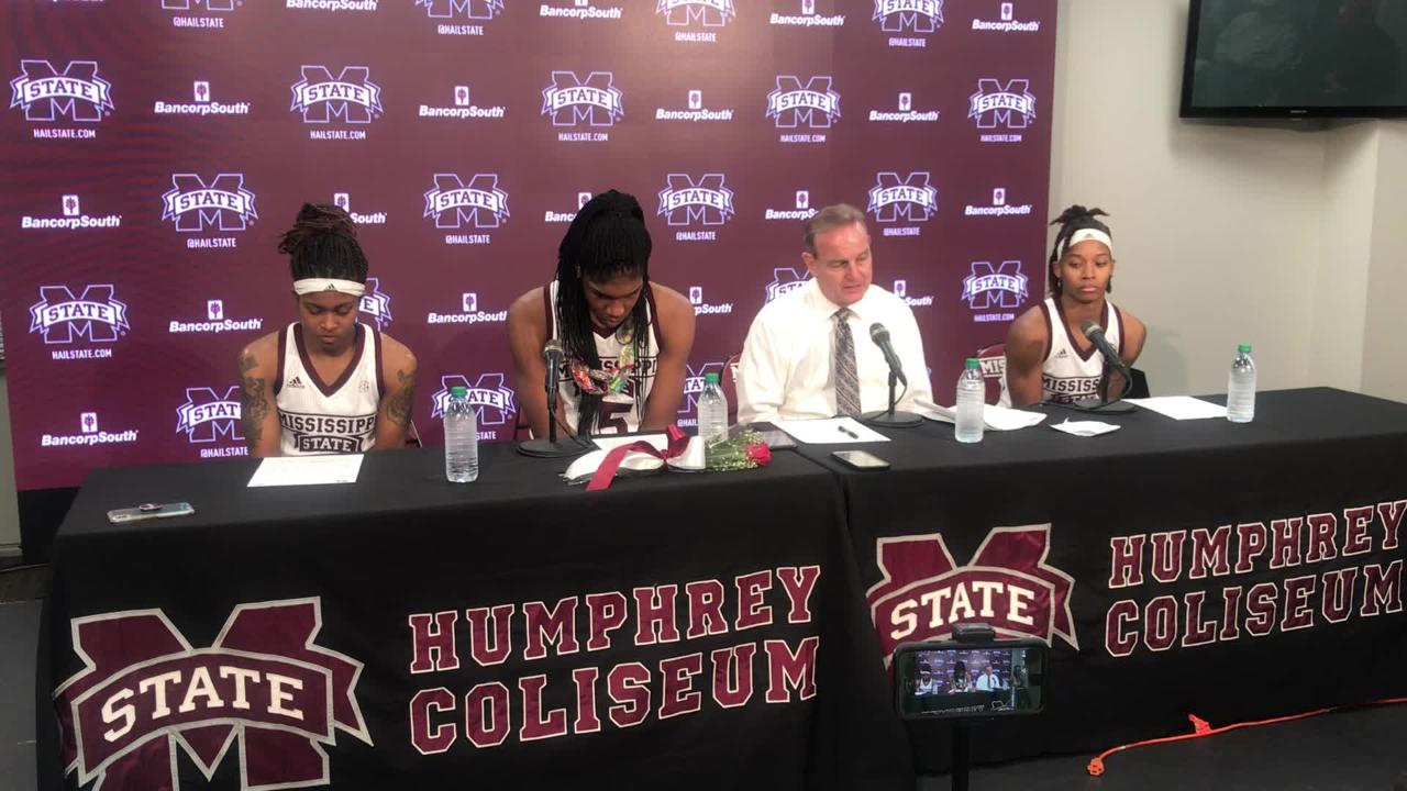 Mississippi State head coach Vic Schaefer discusses senior night win over LSU