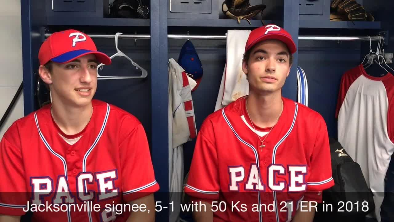 Pace pitchers Brandon Sproat and Ty Kircharr are headed to Florida and Jacksonville for college and could be key in another historic year for Pace.