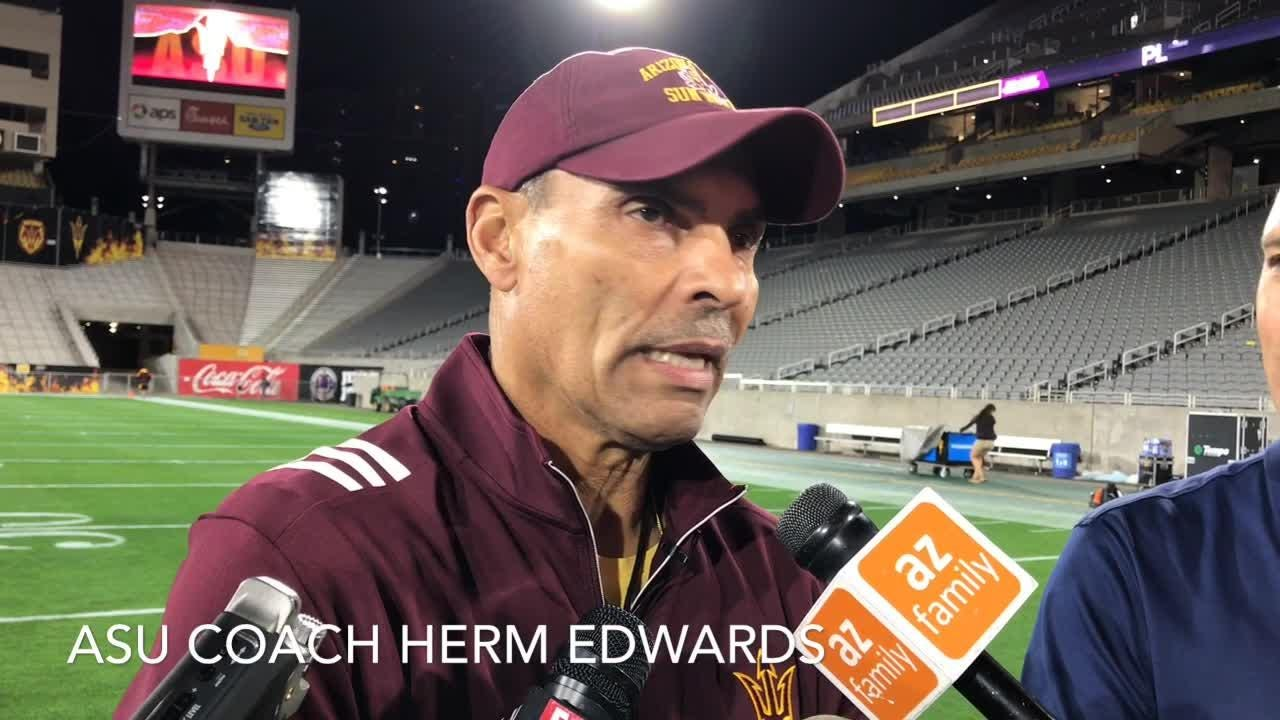 ASU coach Herm Edwards on conclusion of spring football practice