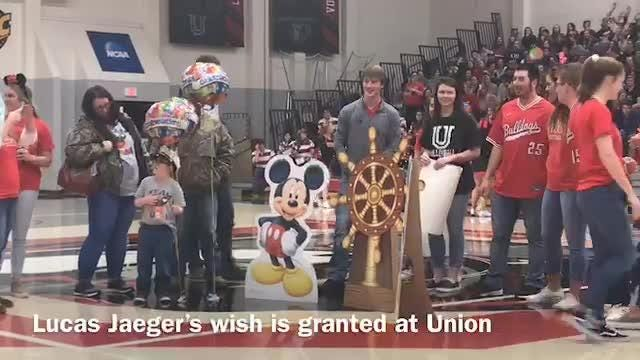 6-year-old Lucas Jaeger is going on a Disney Cruise because of Make-A-Wish and the Union University Student Athlete Advisory Council.