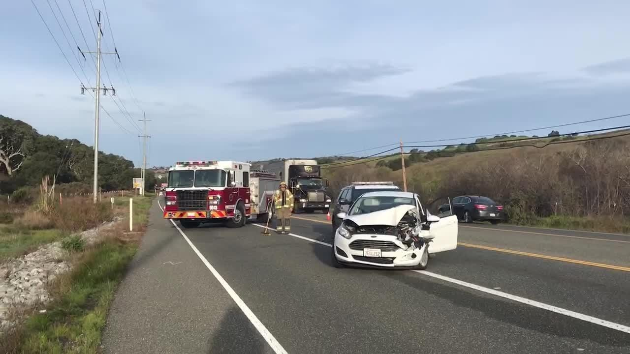 A rear-end crash backed up traffic on Highway 68 early Friday.