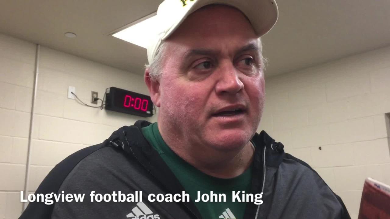 81e58113 Longview coach John King talks playing West Monroe at Independence Stadium