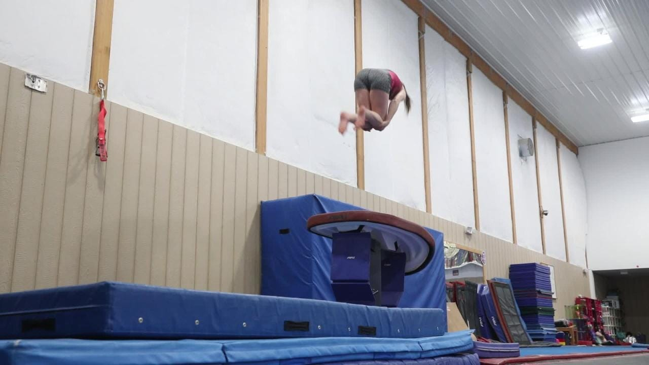 Tri-Valley's Olivia Combs is headed to the state gymnastics meet.