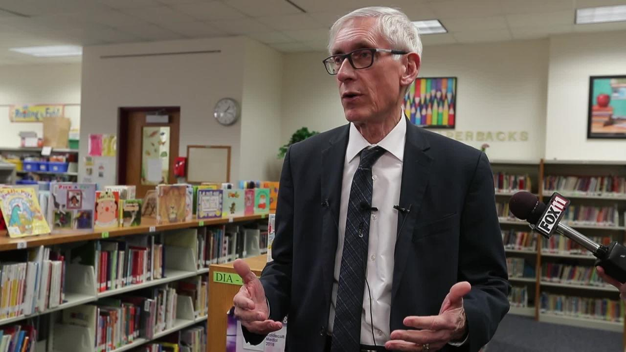 Wisconsin Governor Tony Evers talks about the budget