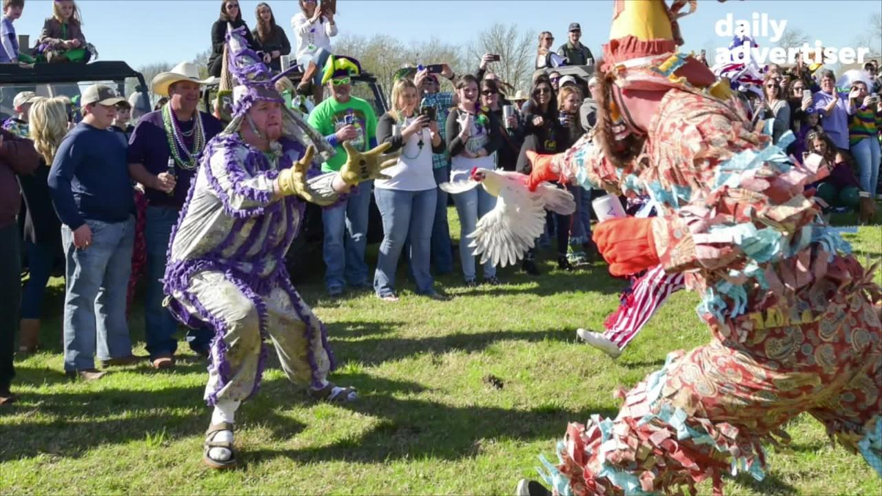 Video slide show from 2018 Courir de Mardi Gras in Church Point, LA.