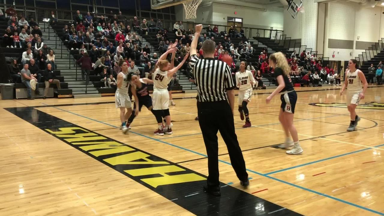 Highlights as Elmira won its third straight Section 4 Class AA girls basketball title with a 53-44 win over Binghamton on March 1, 2019 in Corning.