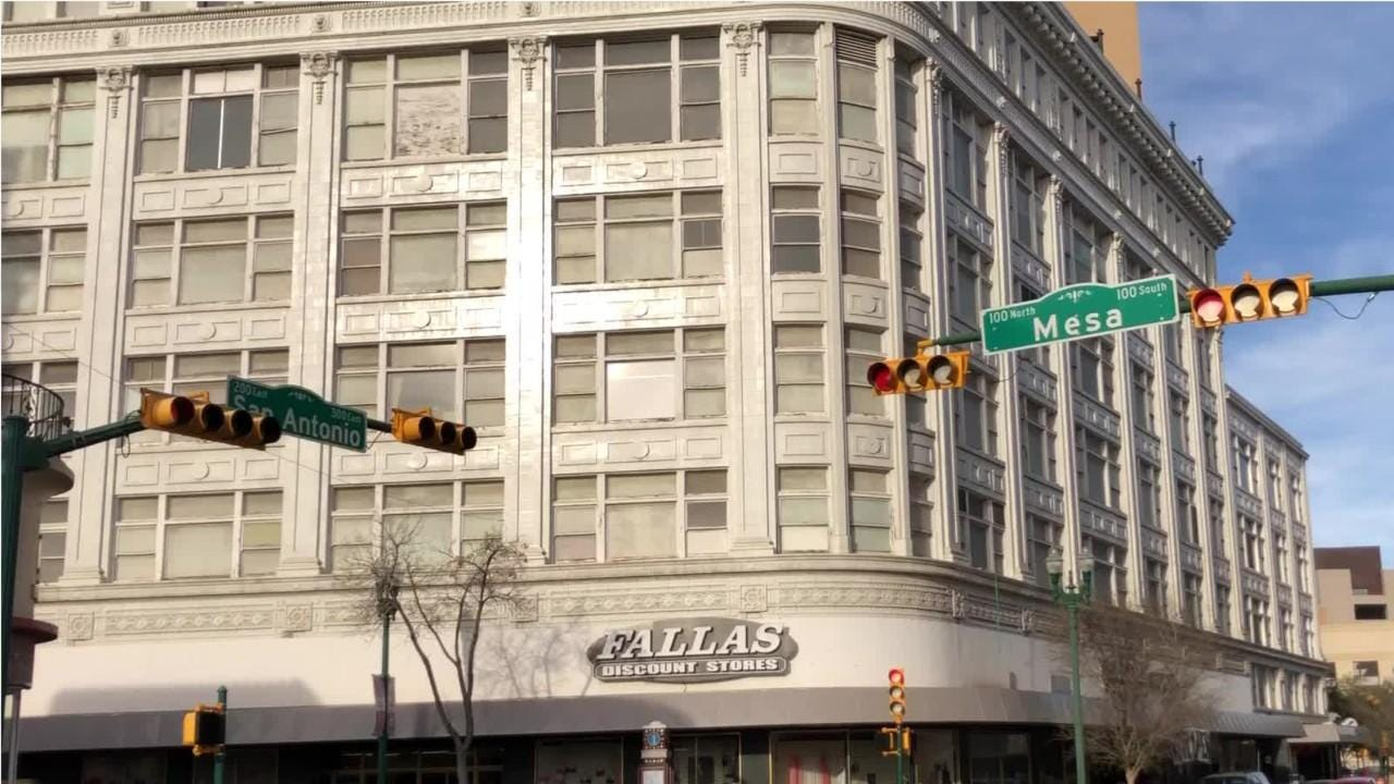 The Fallas Discount Store in a historic Downtown El Paso building reopens March 1, 2019, after a city inspection finds fire hazards were corrected.