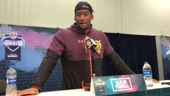 Clemson's Clelin Ferrell explains how wealth of talent, camaraderie on the Tigers' defensive line helped prepare him for the NFL, March 2, 2019.