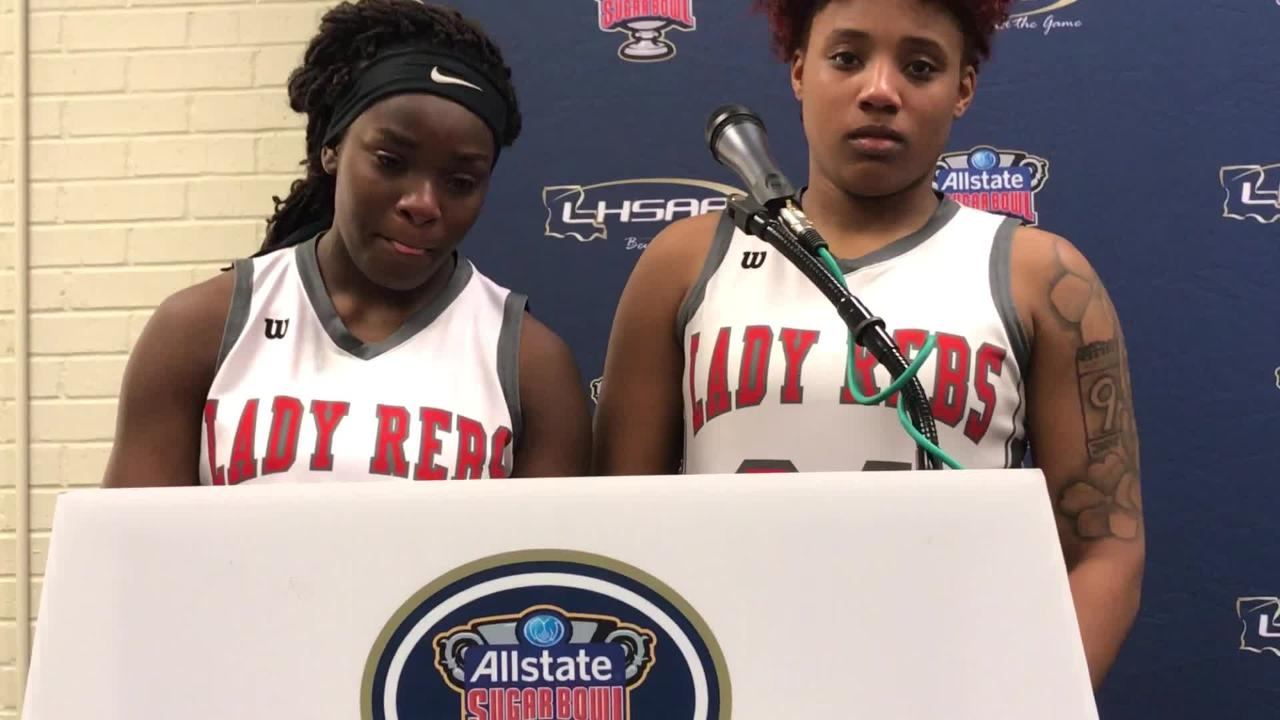 North Caddo's Jadah Martin and Destiny Rice talk about loss