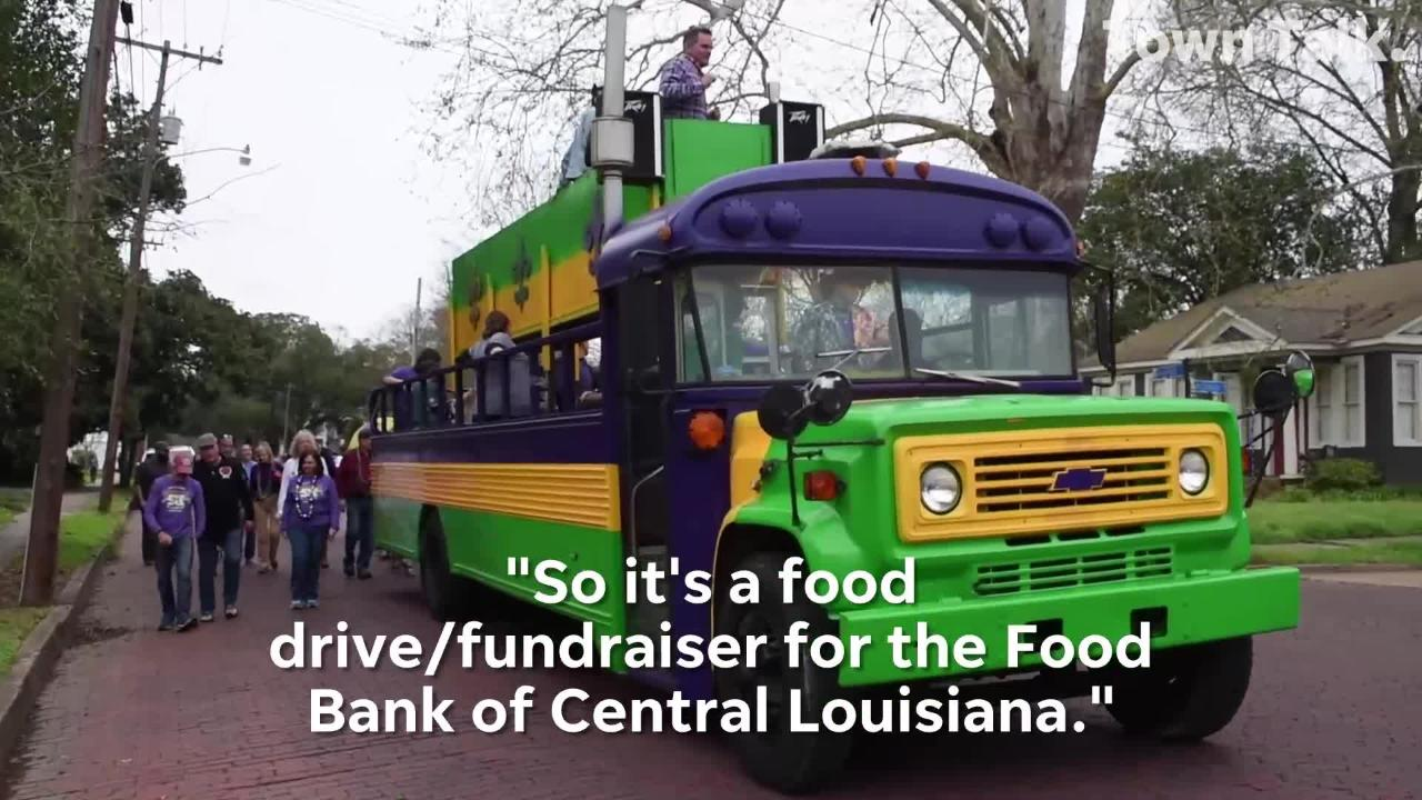 """The Garden District Neighborhood Foundation held their 5th annual """"Second Lining for our Neighbors"""" Party and Promenade to collect food for the Food Bank of Central Louisiana."""
