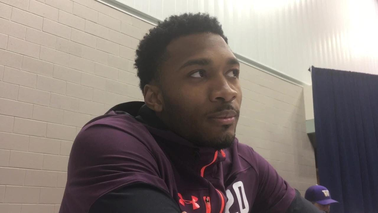 Cornerback Justin Layne talks about leaving Michigan State early for the NFL Draft.