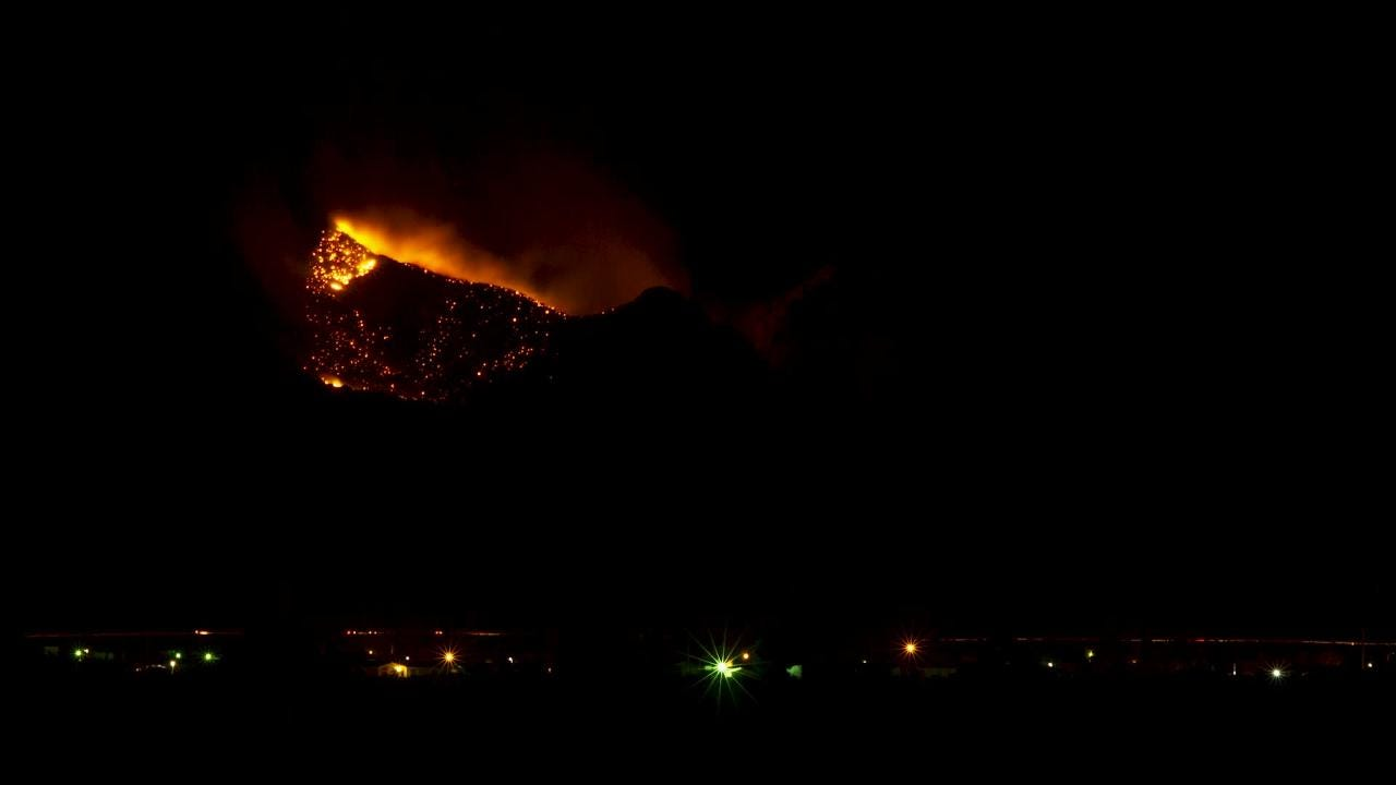 This time-lapse of the Baylor Canyon Fire was recorded from 9:03 to 10:42 p.m. Saturday, March 2, 2019. Video by Tiffany Goolsby