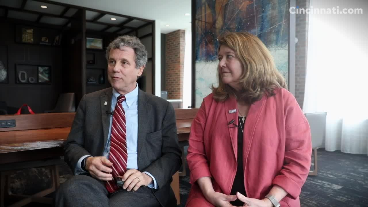"""Sen. Sherrod Brown and his wife Connie Schultz sit down with The Enquirer and discuss the end of the """"Dignity of Work"""" tour and what's next."""
