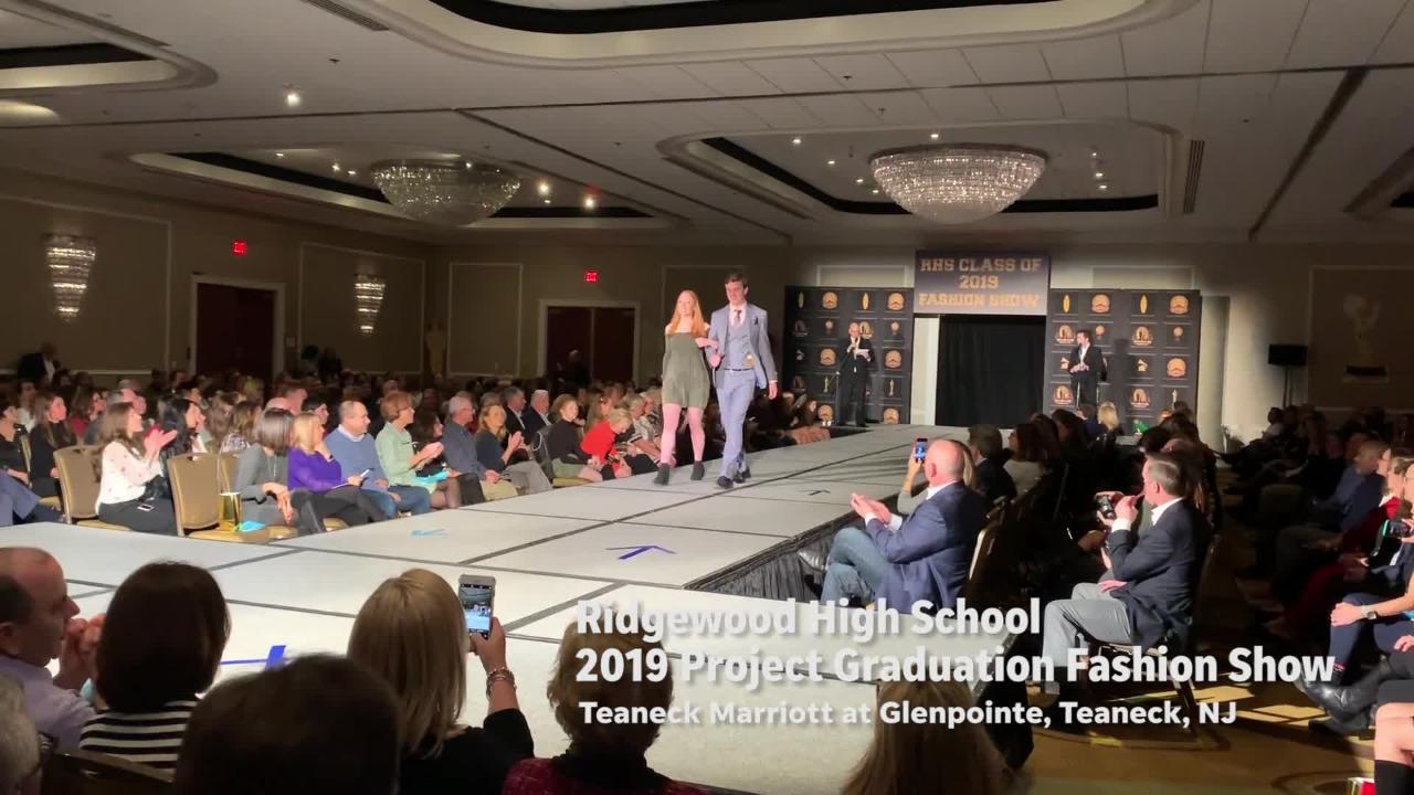 Ridgewood High School seniors hold 2019 Project Graduation fashion show