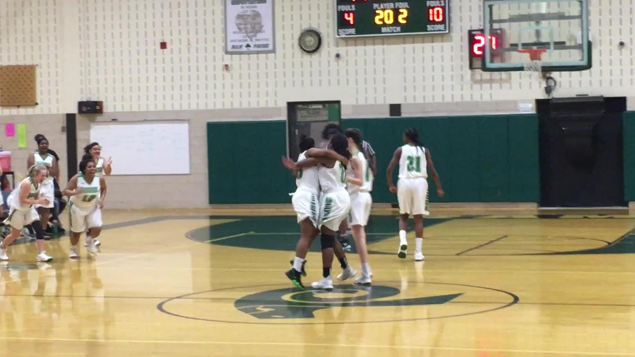Parkside sophomore Jacqueline Wright scored her 1,000th career point with the girls basketball team.