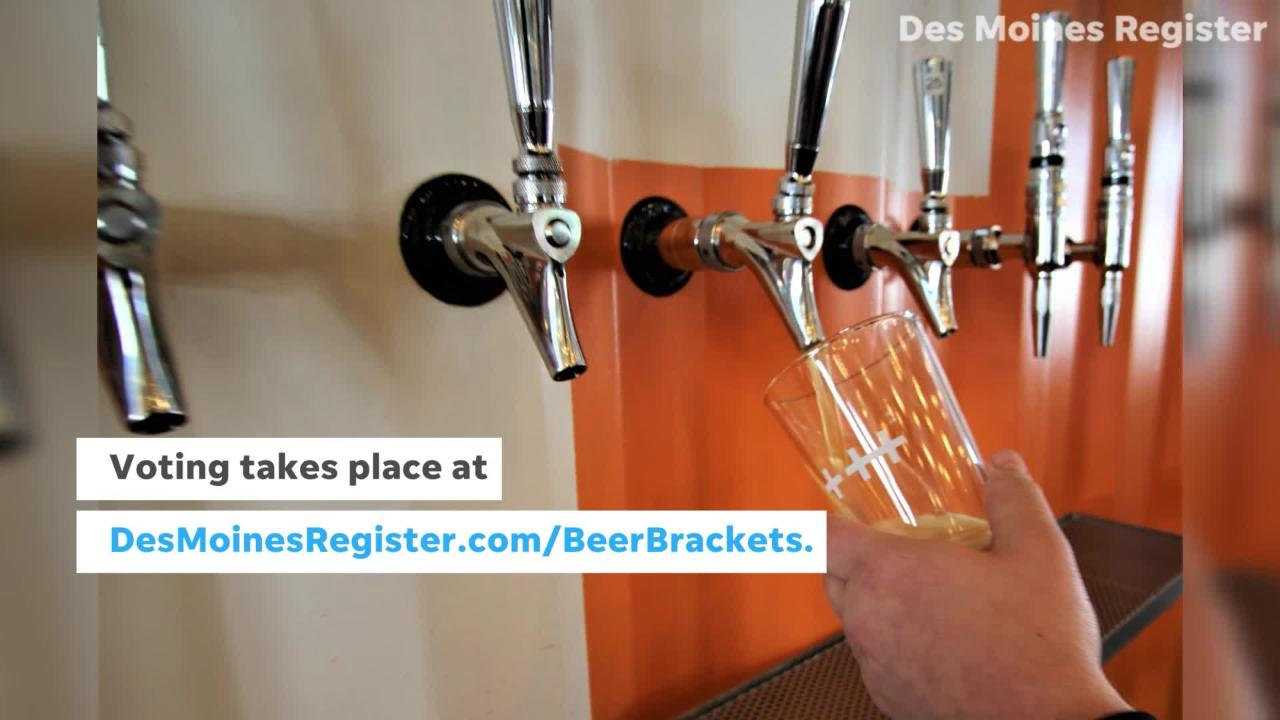 Head to DesMoinesRegister.com/BeerBrackets to cast a ballot for which Iowa beer you love most.