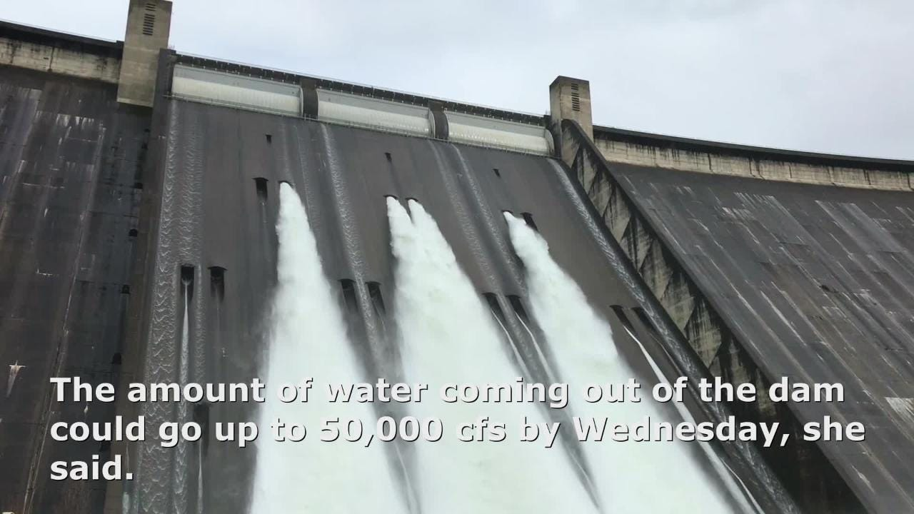 The amount of water coming out of Shasta Dam has been increased to 30,000 cubic-feet per second.