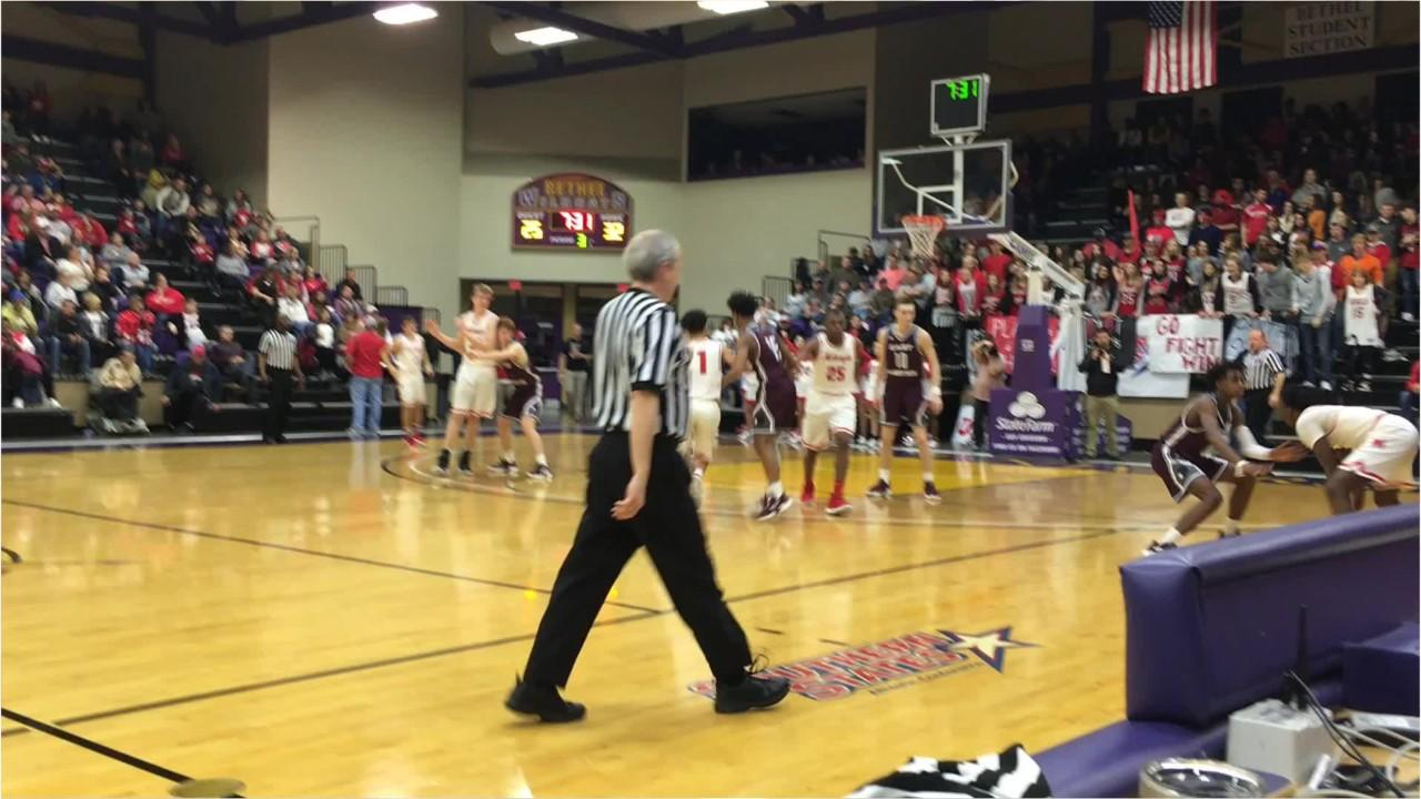 Action from McKenzie's win over East Robertson boys in a Class AA sectional on Monday.
