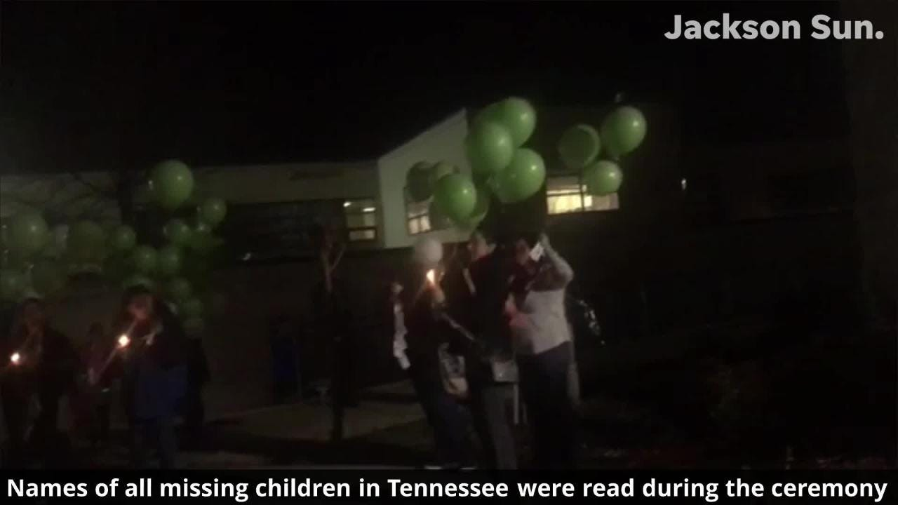 Listen to names of missing children in Tennessee read aloud during Monday's ceremony.