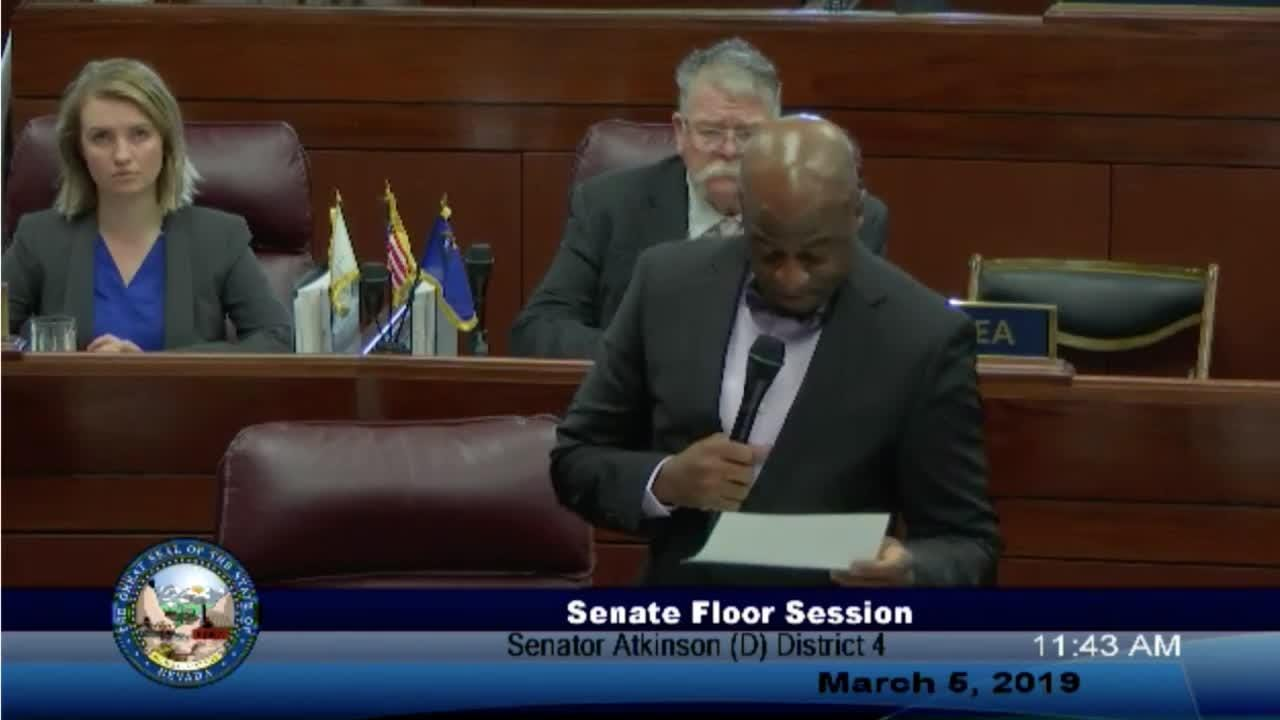 Nevada Senate Majority Leader Kelvin Atkinson announced his resignation on March 5 after pleading guilty to campaign finance violations.