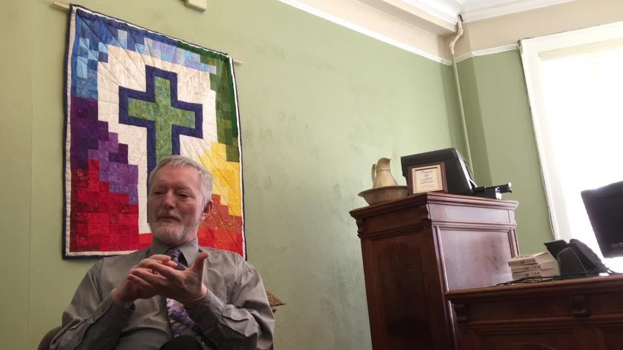 Openly gay Rev. Mark Thompson, who serves Lansing Central Methodist Church, talks about his sexual orientation and his protest of the church's position.