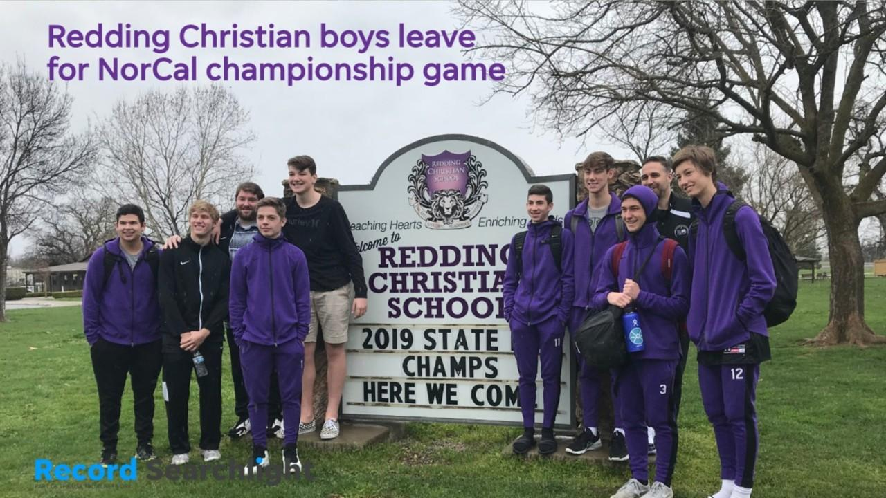 Redding Christian's student body sent off the boys basketball team on Tuesday ahead of its trip to the Bay Area for a NorCal championship game.