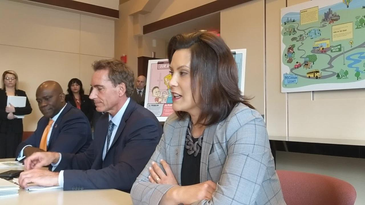 Michigan Gov. Gretchen Whitmer discusses her $60.2 billion state budget proposal.