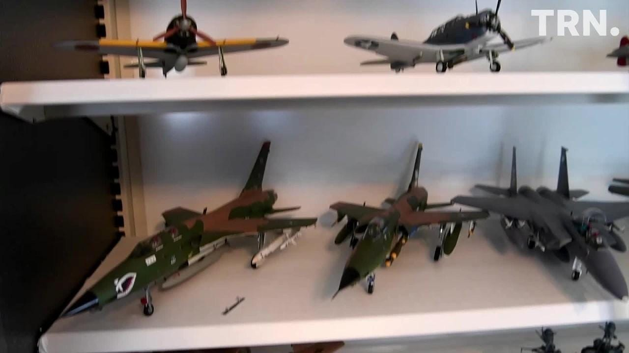 Air Force veteran Jack Riddle has created about 100 detailed and authentic models of military aircraft.
