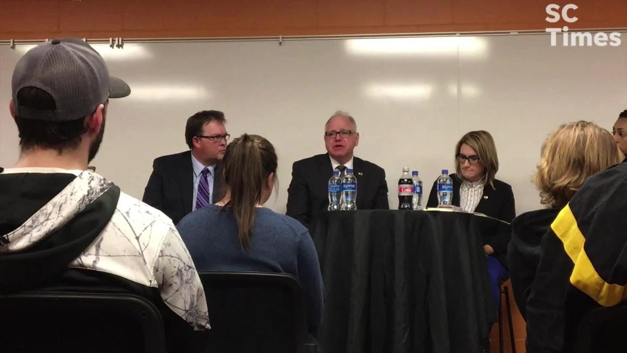 Walz and Flanagan heard from students and teachers about what aspects of the education budget they support and what they're concerned about.