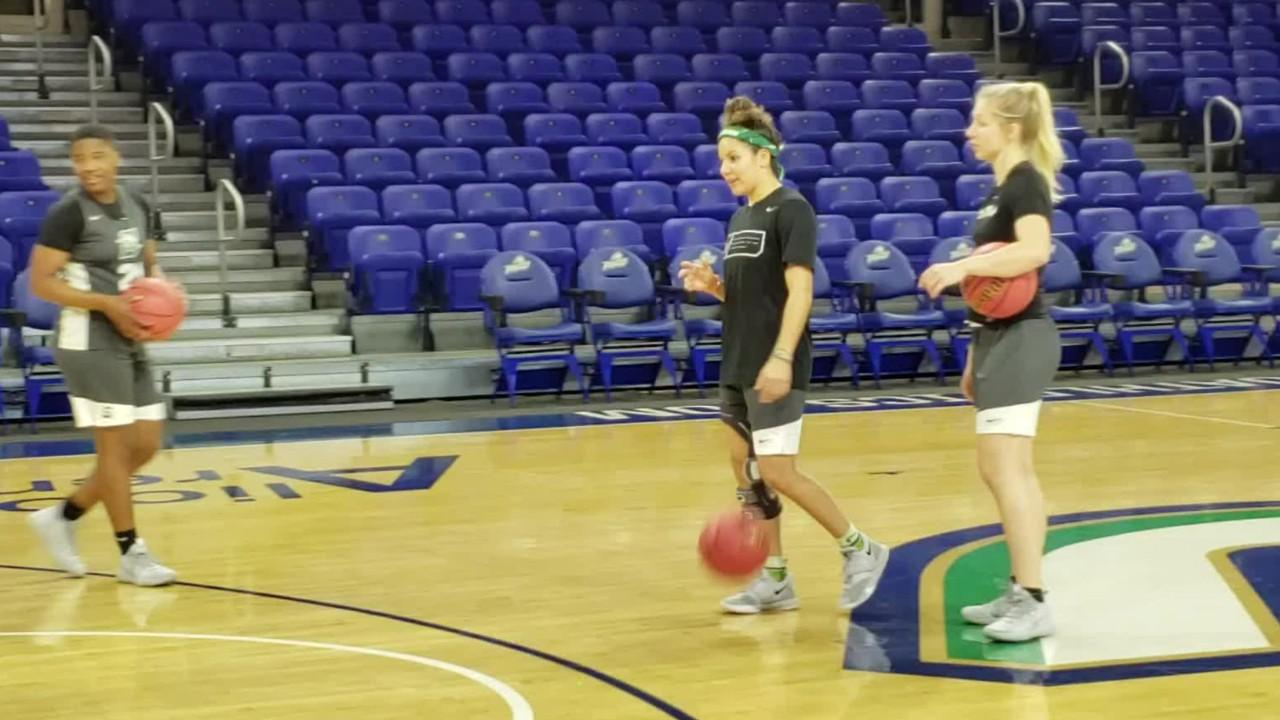 Beach came to Stetson still recovering from a second ACL tear. She went on to play in 121 straight games for the Hatters before an injury as a senior