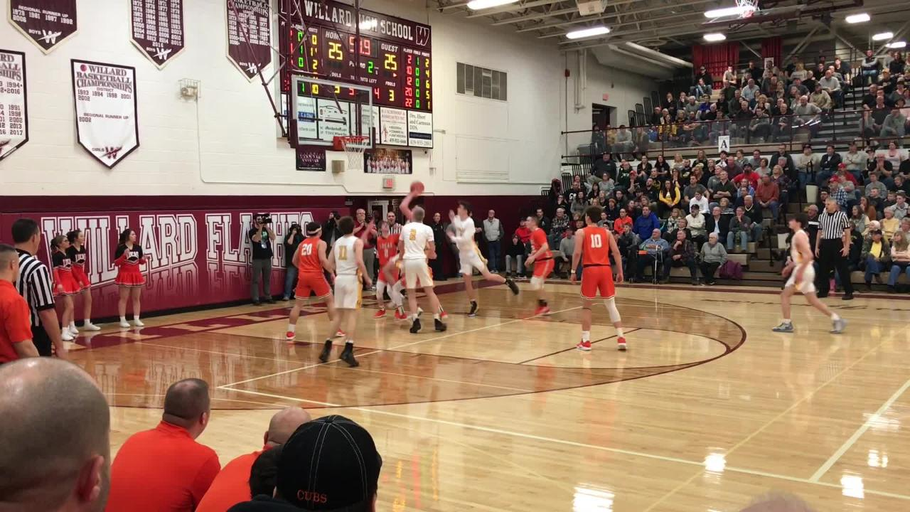 Highlights of Colonel Crawford's 51-39 win over Lucas in the district semifinal at Willard High School on March 5, 2019.