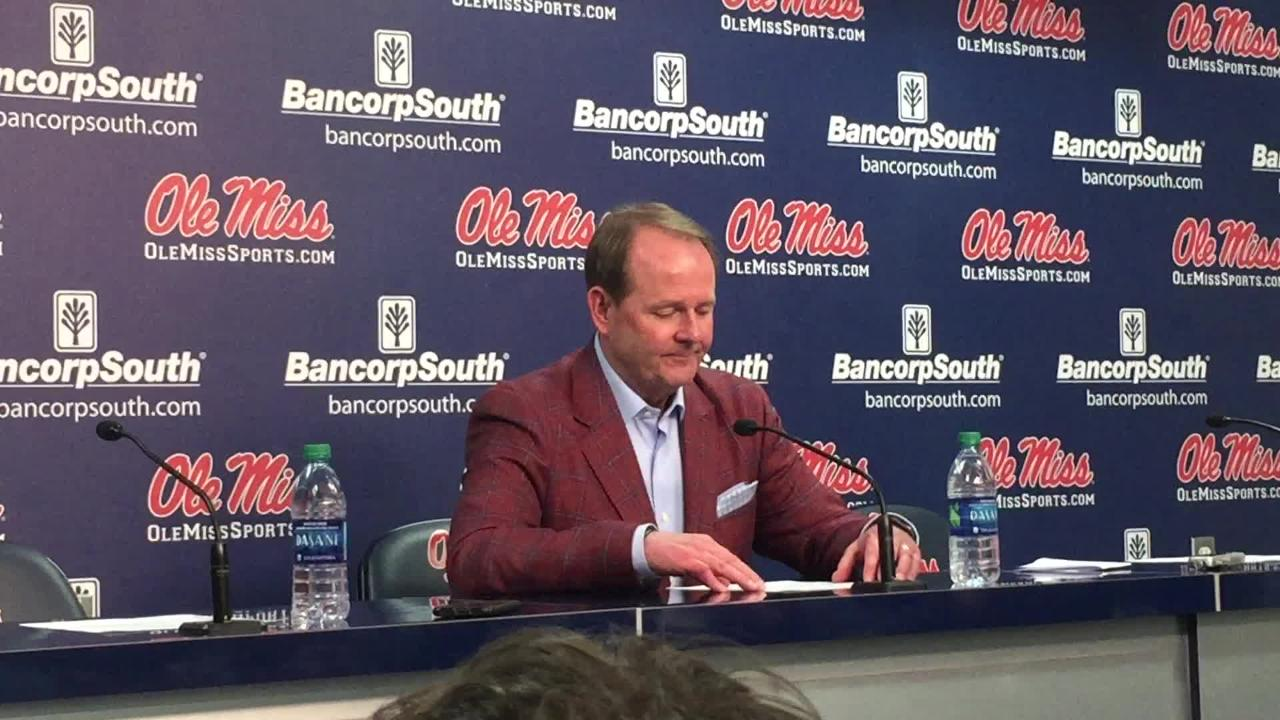 Ole Miss basketball coach Kermit Davis talked about his team's third straight close loss, this one at the hands of No. 6 Kentucky.