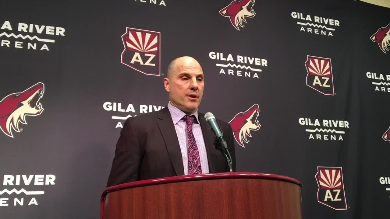 Coyotes head coach Rick Tocchet discusses his team's 3-1 loss to the Ducks on Tuesday.