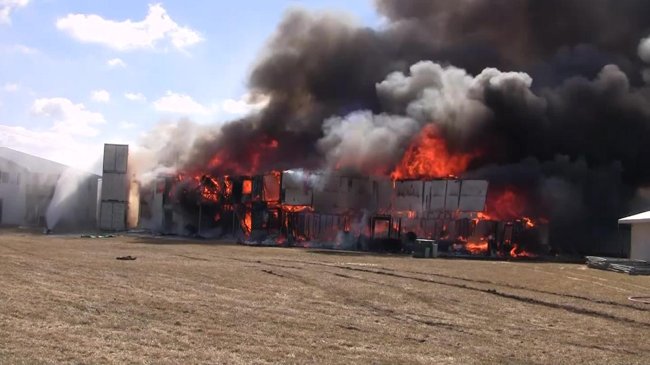 A timelapse of the apartment controlled burn in Beaver Dam.