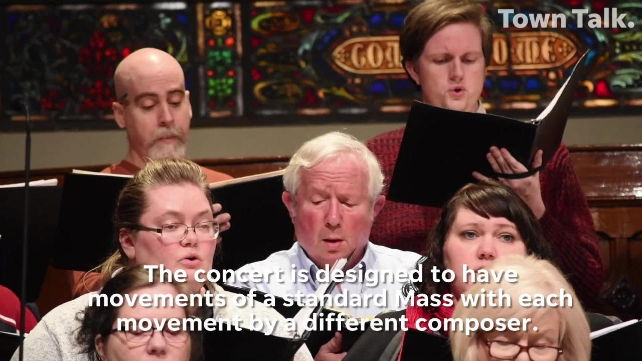 """The Red River Chorale, under the direction of Dr. Burt Allen, will present a concert, """"Inspired by Liturgy,"""" at Emmanuel Baptist Church."""