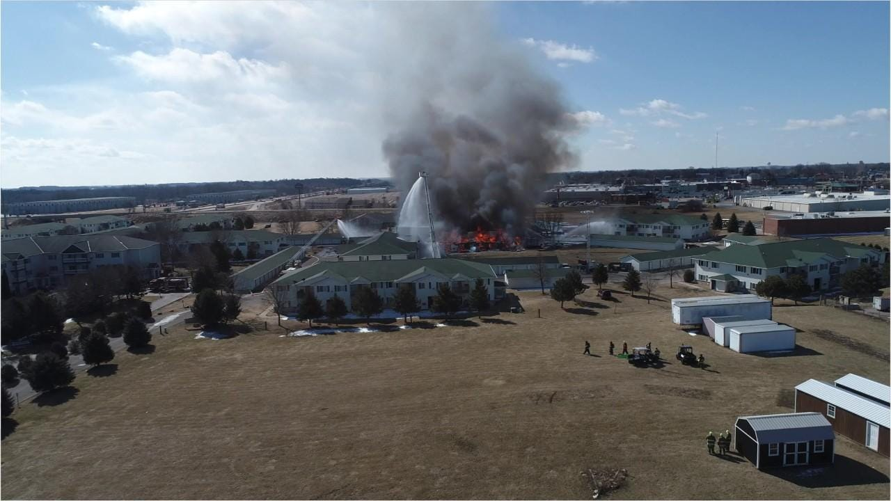 Beaver Dam controlled burn after apartment explosion